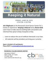 June 28th, Keeping It Natural, iDig2Learn at CBN/RI Senior Center